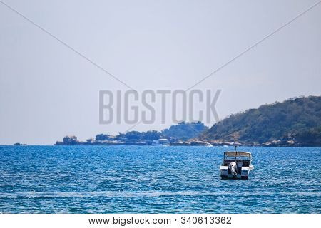 Sailing Ship, Speed Boat, Yacht On The Sea