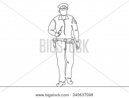 One Continuous Single Drawn Line Art Doodle Man Bodyguard, Security, Guard, Protection, Male, Profes