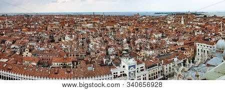 Panoramic View Of Venice From The Campanile In St. Marks Square