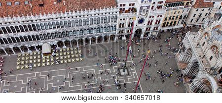 Aerial View Of St. Marks Square From The Campanile In Venice