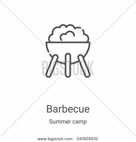 barbecue icon isolated on white background from summer camp collection. barbecue icon trendy and mod