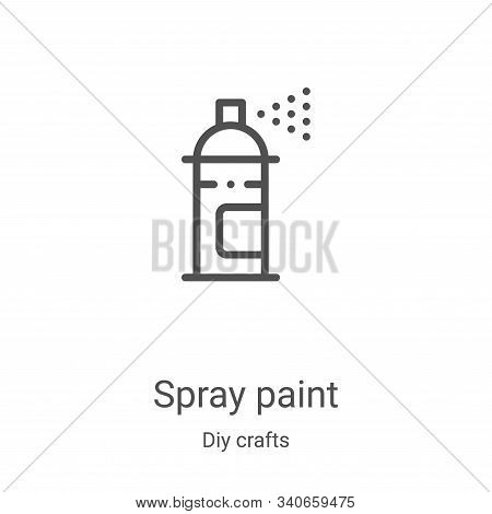 spray paint icon isolated on white background from diy crafts collection. spray paint icon trendy an