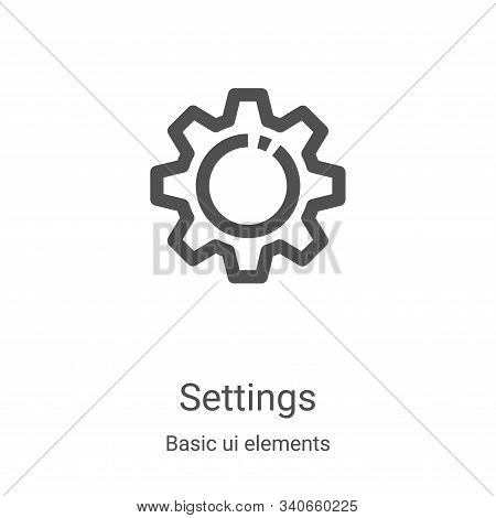 settings icon isolated on white background from basic ui elements collection. settings icon trendy a