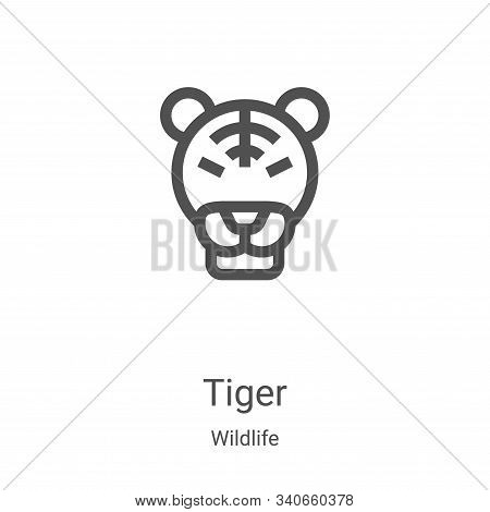 tiger icon isolated on white background from wildlife collection. tiger icon trendy and modern tiger
