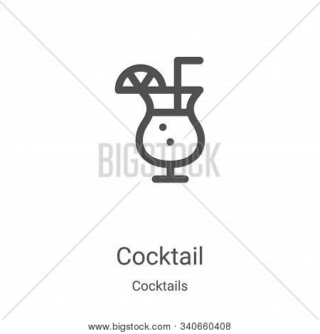 cocktail icon isolated on white background from cocktails collection. cocktail icon trendy and moder