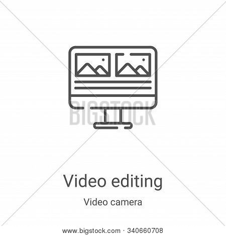 video editing icon isolated on white background from video camera collection. video editing icon tre