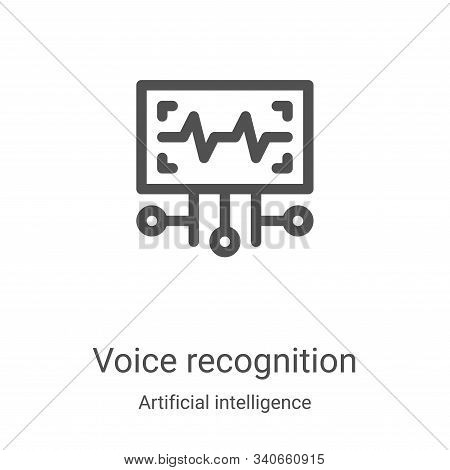 voice recognition icon isolated on white background from artificial intelligence collection. voice r