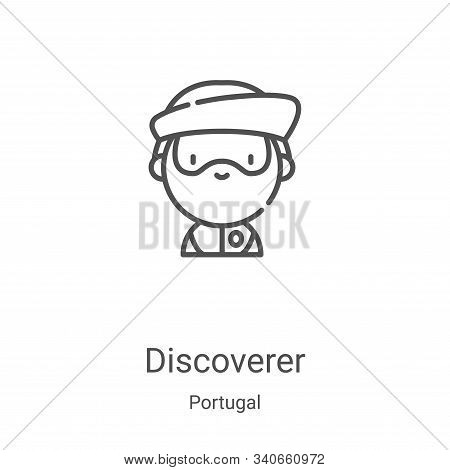discoverer icon isolated on white background from portugal collection. discoverer icon trendy and mo