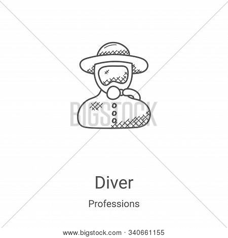 diver icon isolated on white background from professions collection. diver icon trendy and modern di