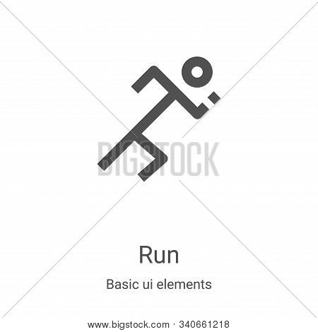 run icon isolated on white background from basic ui elements collection. run icon trendy and modern