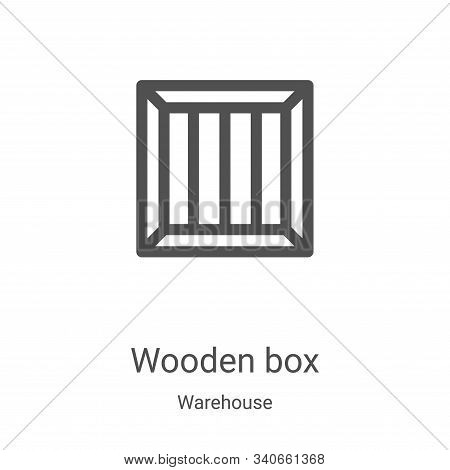 wooden box icon isolated on white background from warehouse collection. wooden box icon trendy and m