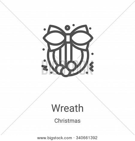 wreath icon isolated on white background from christmas collection. wreath icon trendy and modern wr