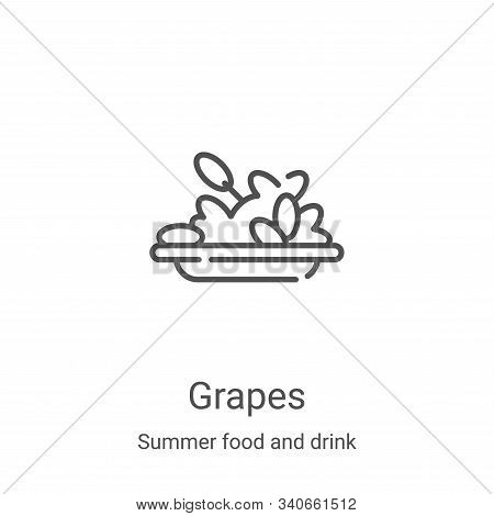 grapes icon isolated on white background from summer food and drink collection. grapes icon trendy a