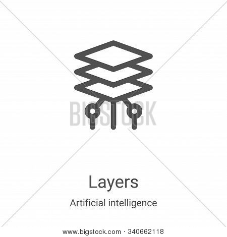 layers icon isolated on white background from artificial intelligence collection. layers icon trendy