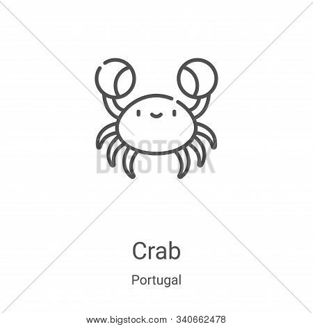 crab icon isolated on white background from portugal collection. crab icon trendy and modern crab sy