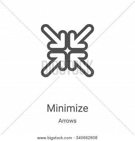 minimize icon isolated on white background from arrows collection. minimize icon trendy and modern m