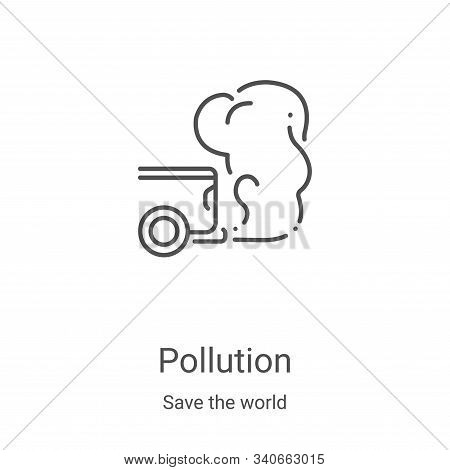 pollution icon isolated on white background from save the world collection. pollution icon trendy an