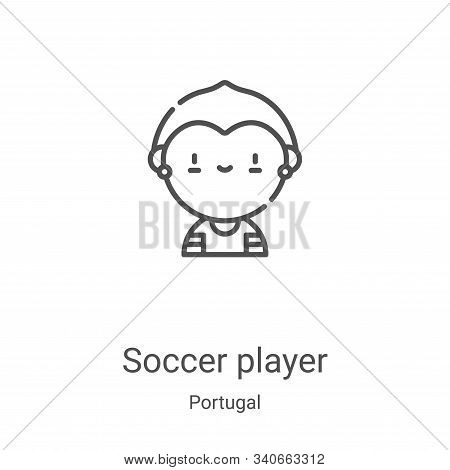 soccer player icon isolated on white background from portugal collection. soccer player icon trendy