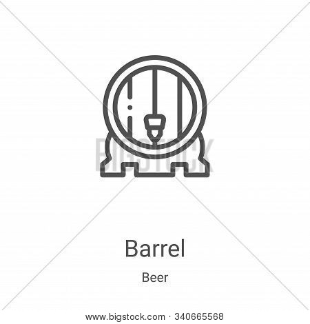 barrel icon isolated on white background from beer collection. barrel icon trendy and modern barrel