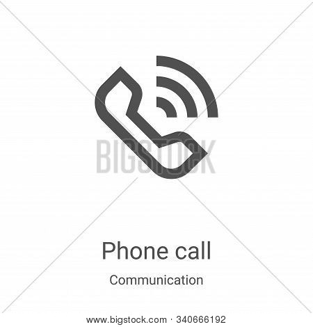 phone call icon isolated on white background from communication collection. phone call icon trendy a