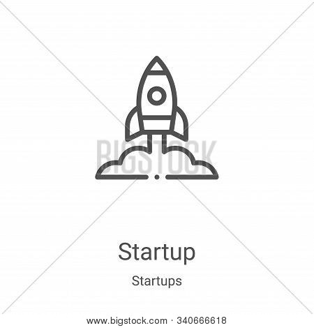 startup icon isolated on white background from startups collection. startup icon trendy and modern s
