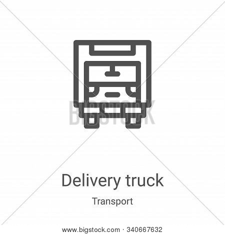 delivery truck icon isolated on white background from transport collection. delivery truck icon tren