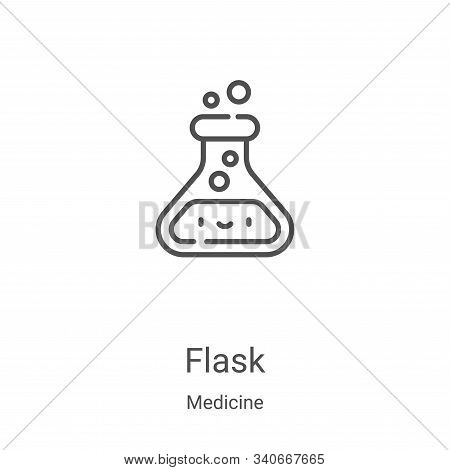 flask icon isolated on white background from medicine collection. flask icon trendy and modern flask