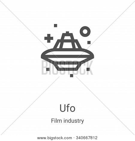 ufo icon isolated on white background from film industry collection. ufo icon trendy and modern ufo