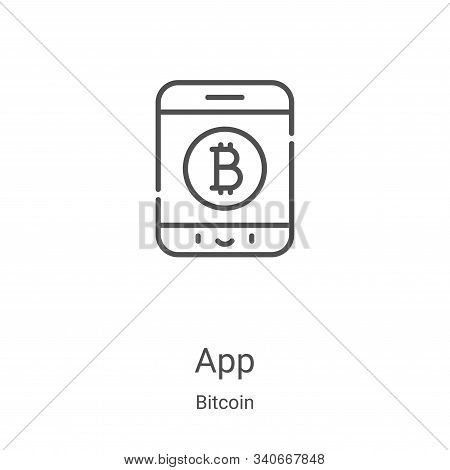 app icon isolated on white background from bitcoin collection. app icon trendy and modern app symbol