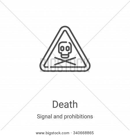 death icon isolated on white background from signal and prohibitions collection. death icon trendy a