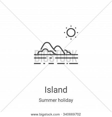 island icon isolated on white background from summer holiday collection. island icon trendy and mode