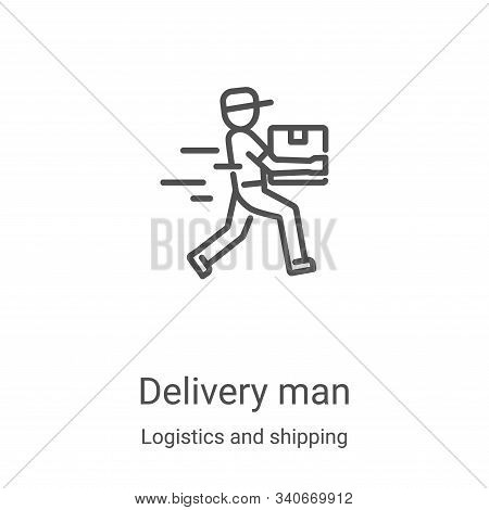 delivery man icon isolated on white background from logistics and shipping collection. delivery man