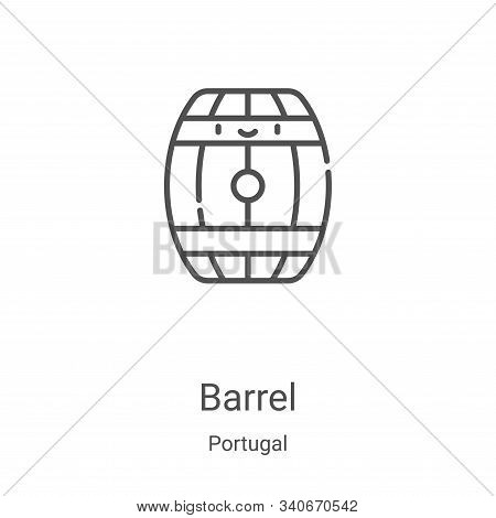 barrel icon isolated on white background from portugal collection. barrel icon trendy and modern bar