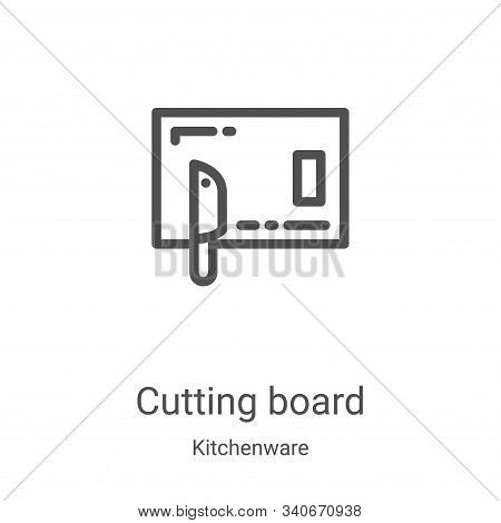 cutting board icon isolated on white background from kitchenware collection. cutting board icon tren