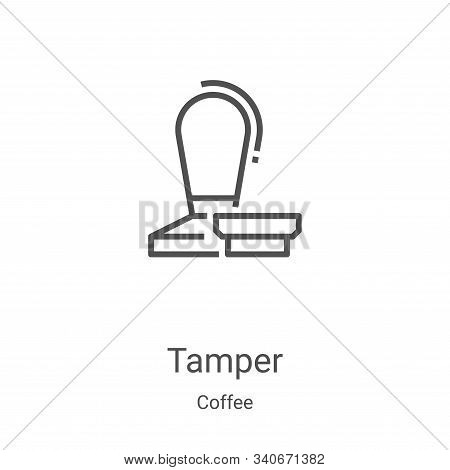 tamper icon isolated on white background from coffee collection. tamper icon trendy and modern tampe