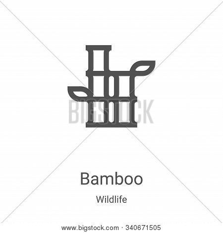 bamboo icon isolated on white background from wildlife collection. bamboo icon trendy and modern bam