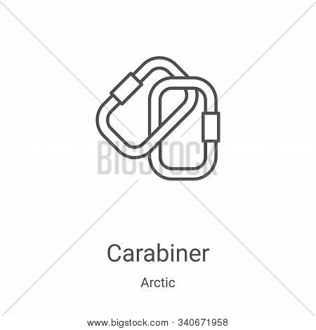 carabiner icon isolated on white background from arctic collection. carabiner icon trendy and modern