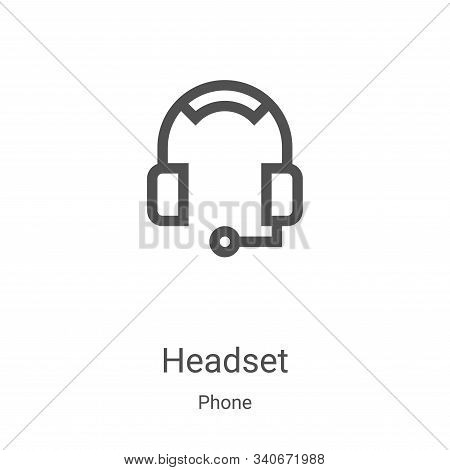headset icon isolated on white background from phone collection. headset icon trendy and modern head