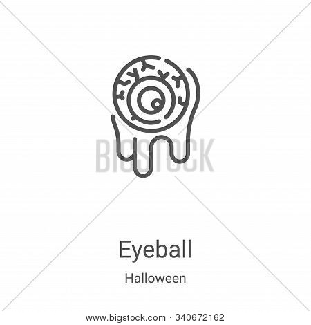 eyeball icon isolated on white background from halloween collection. eyeball icon trendy and modern