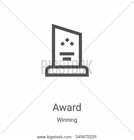 award icon isolated on white background from winning collection. award icon trendy and modern award