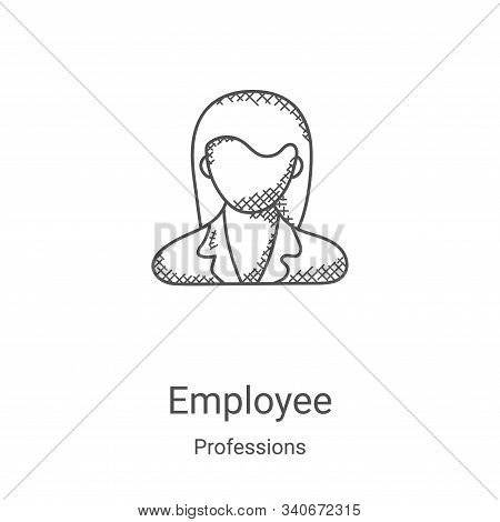 employee icon isolated on white background from professions collection. employee icon trendy and mod