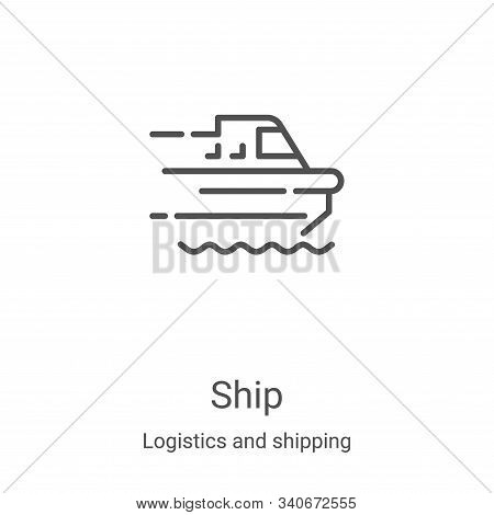ship icon isolated on white background from logistics and shipping collection. ship icon trendy and