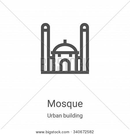 mosque icon isolated on white background from urban building collection. mosque icon trendy and mode