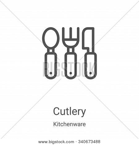 cutlery icon isolated on white background from kitchenware collection. cutlery icon trendy and moder