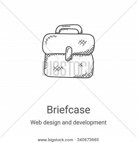 briefcase icon isolated on white background from web design and development collection. briefcase ic