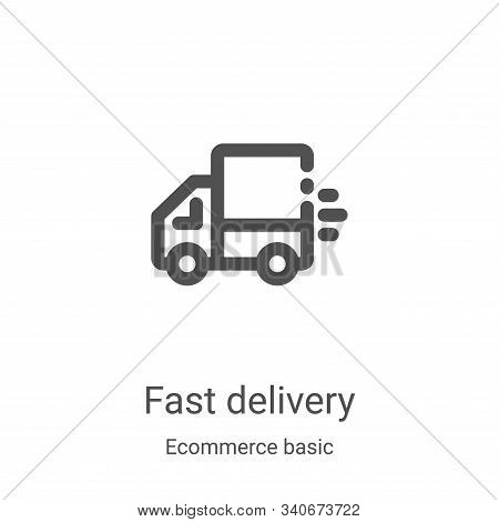 fast delivery icon isolated on white background from ecommerce basic collection. fast delivery icon