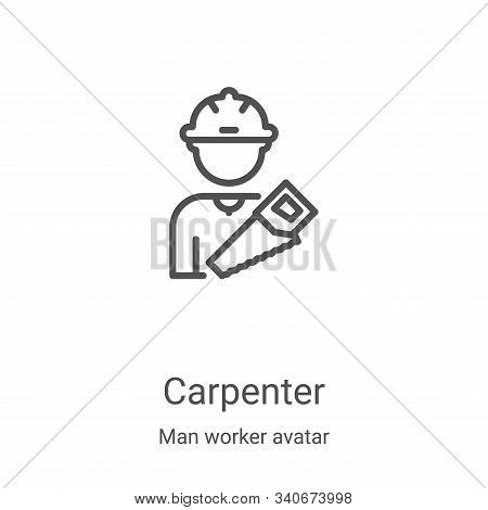 carpenter icon isolated on white background from man worker avatar collection. carpenter icon trendy