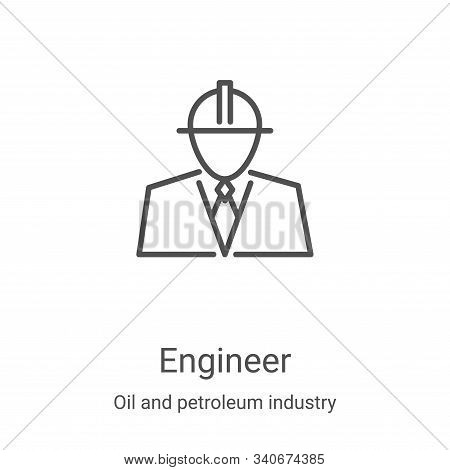 engineer icon isolated on white background from oil and petroleum industry collection. engineer icon
