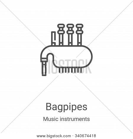 bagpipes icon isolated on white background from music instruments collection. bagpipes icon trendy a