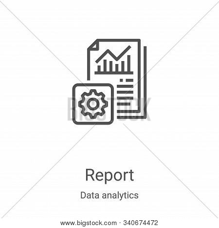 report icon isolated on white background from data analytics collection. report icon trendy and mode